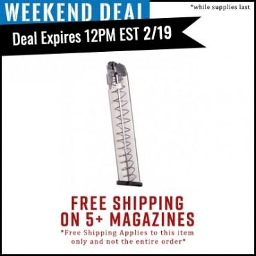 Ets Glock 18 9mm 31 Round Polymer Magazine 7782062 Ammowinner