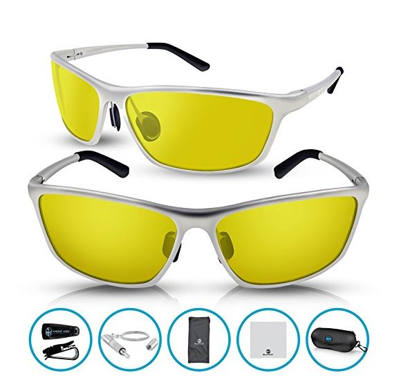 28cfedd43f7 BLUPOND RALLY Night Vision Polarized Sunglasses
