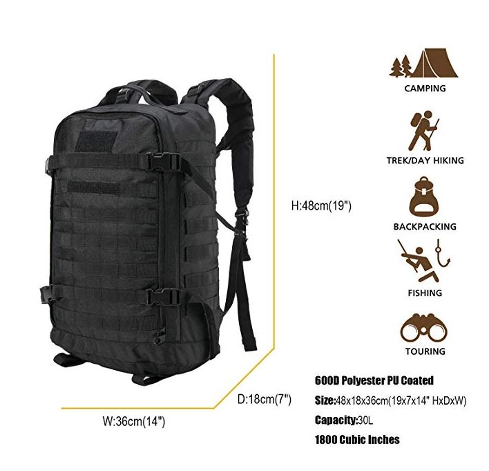 7664df14e6 Akmax.cn Military Tactical Backpack 3 Day Backpack Assault Pack Molle Bug  Out Bag for Camping